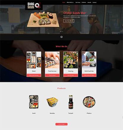 Oishii Sushi Web Design