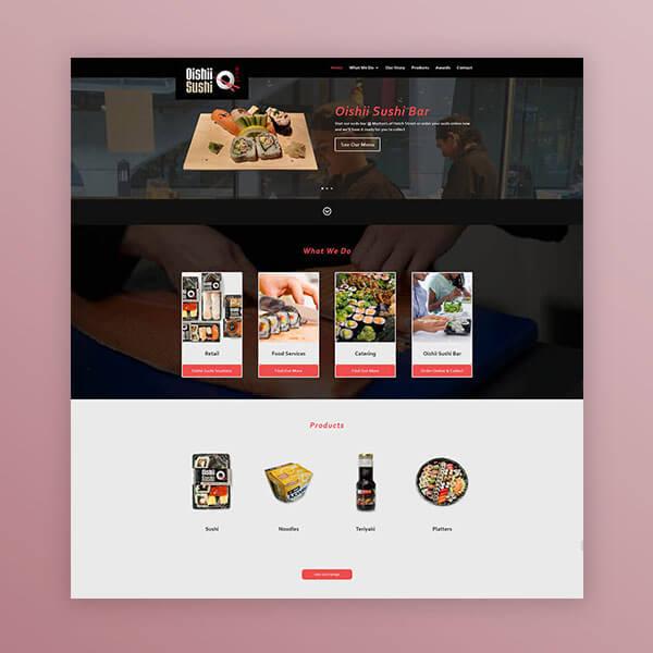 Oishi Sushi Web Design